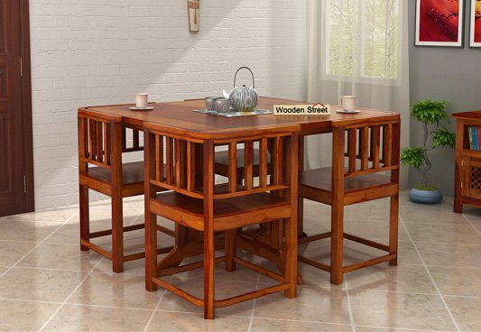 5 Best Space Saving Dining Tables From Wooden Street Furniture Designs